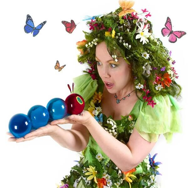 Human Flower Crystal Ball Juggler