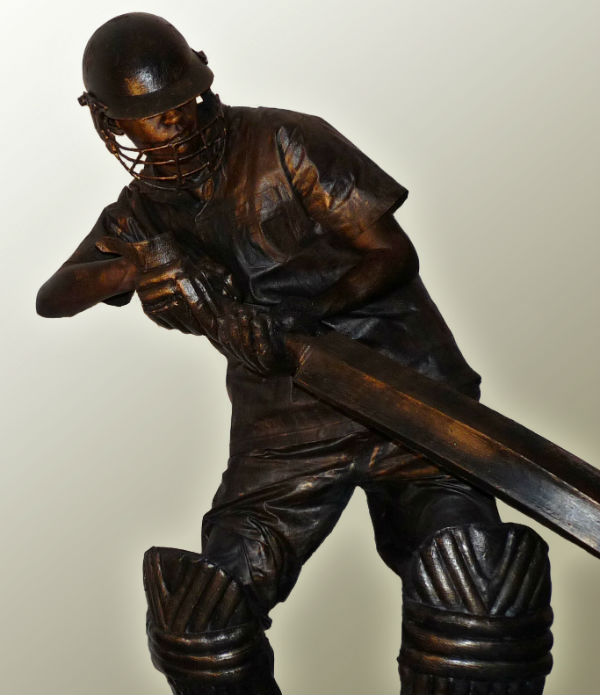 Cricketer Human Statue
