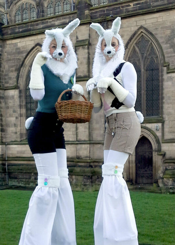 Easter Bunny Stilt walkers