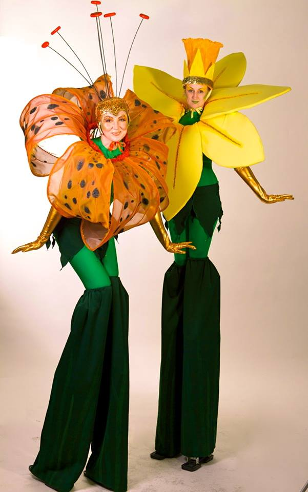 Flower Stilt Walkers For Hire