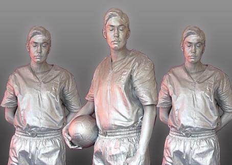 Footballer Human Statues