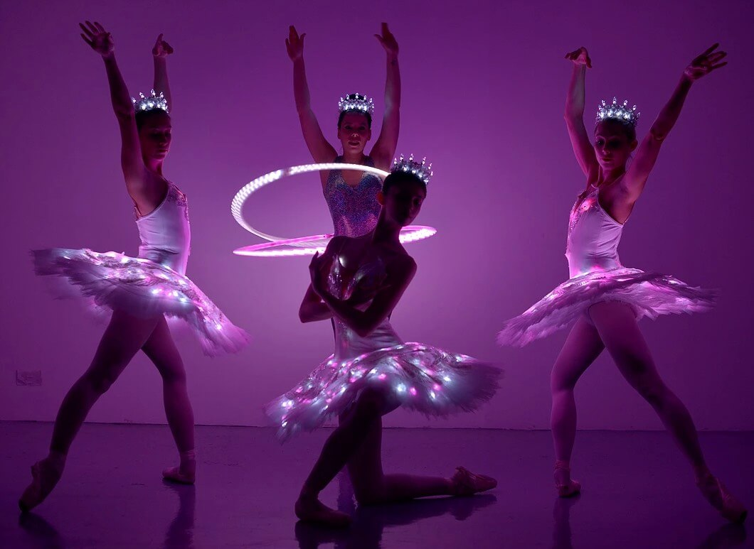 LED-Ballet Hoola Hoop Show