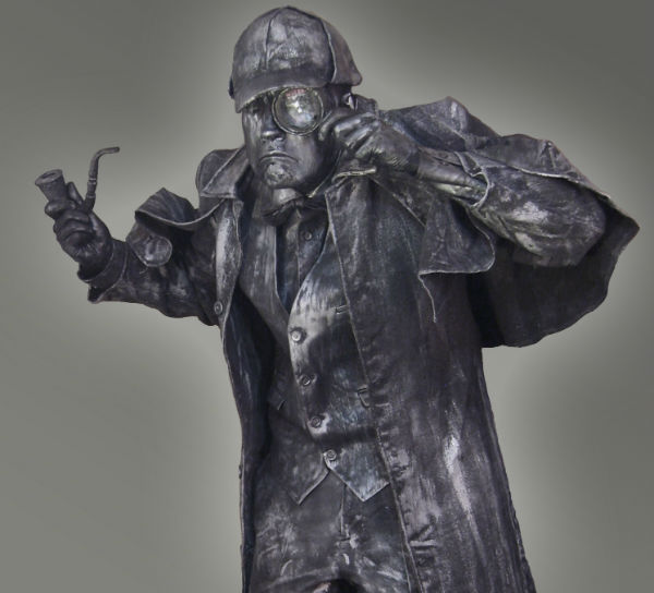Sherlock Holmes Living Statue hire