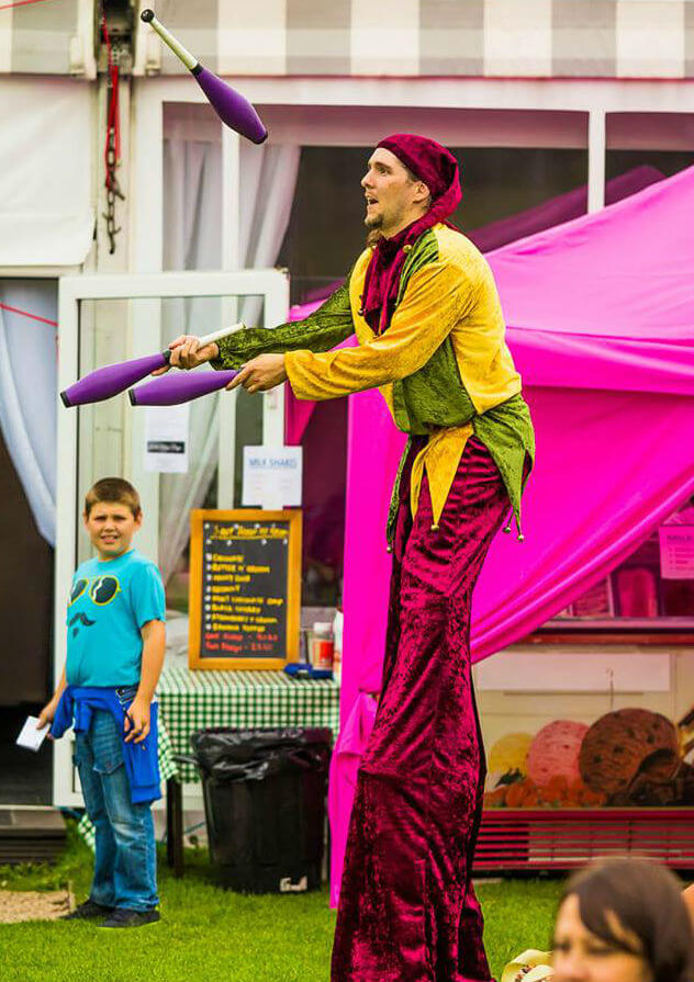Stilt Jester Stilt walkers to hire