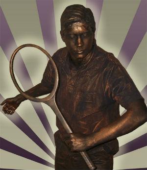 The Tennis Player Living Statue