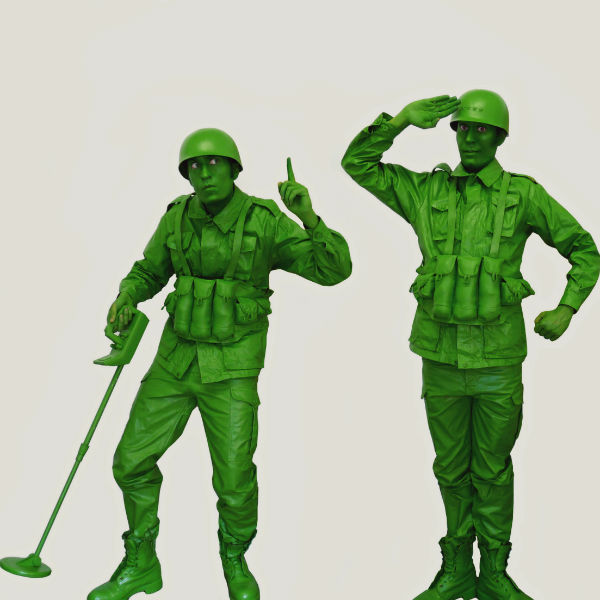 Toy Soldier Human Statues