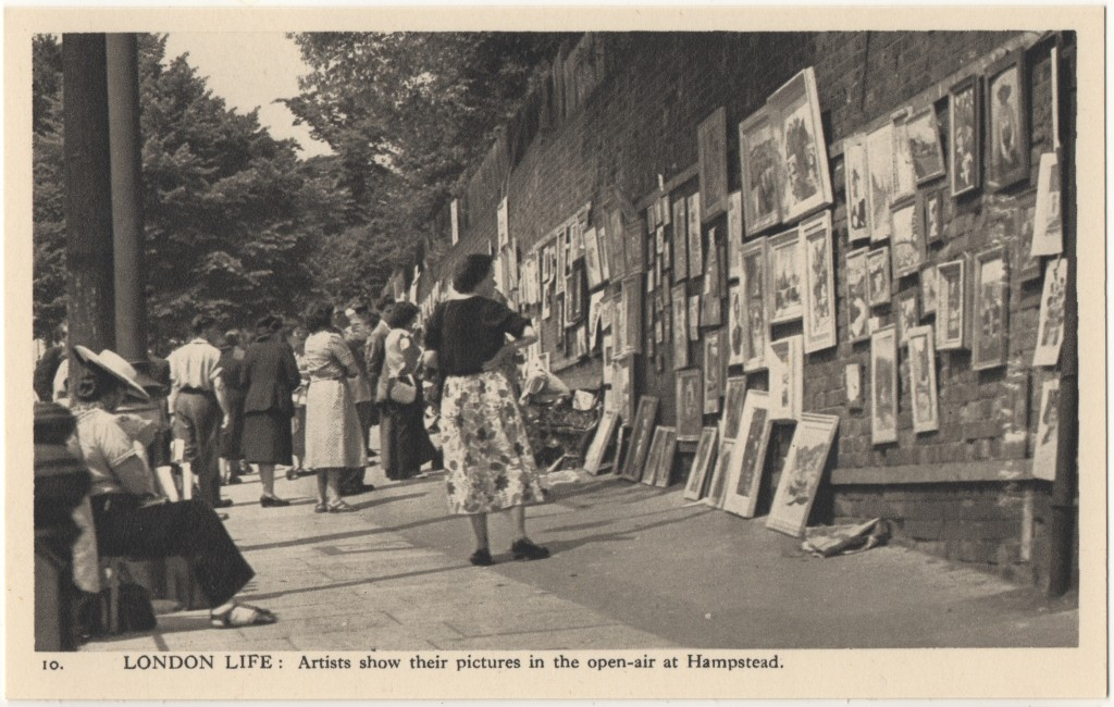 10. London Life: Artists show their pictures in the open-air at Hampstead