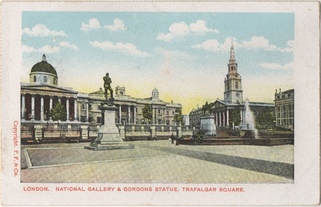 National Gallery Gordon Statue Trafalgar Square