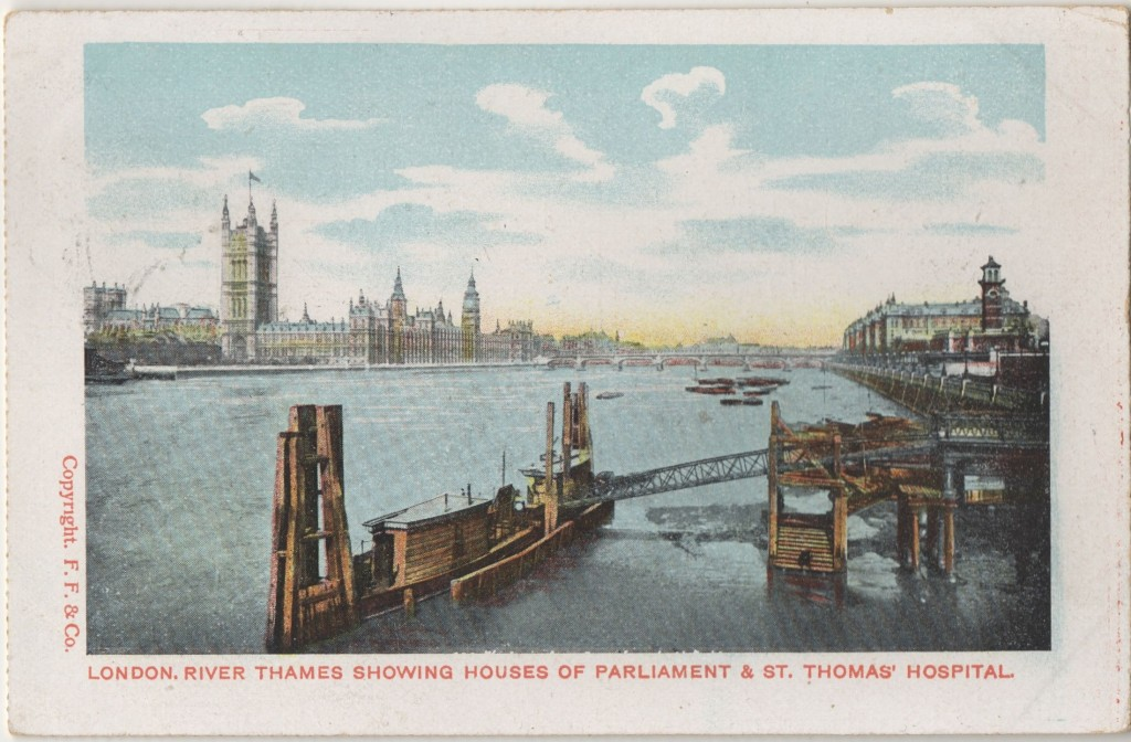 River Thames Houses of Parliamant St Thomas Hospital