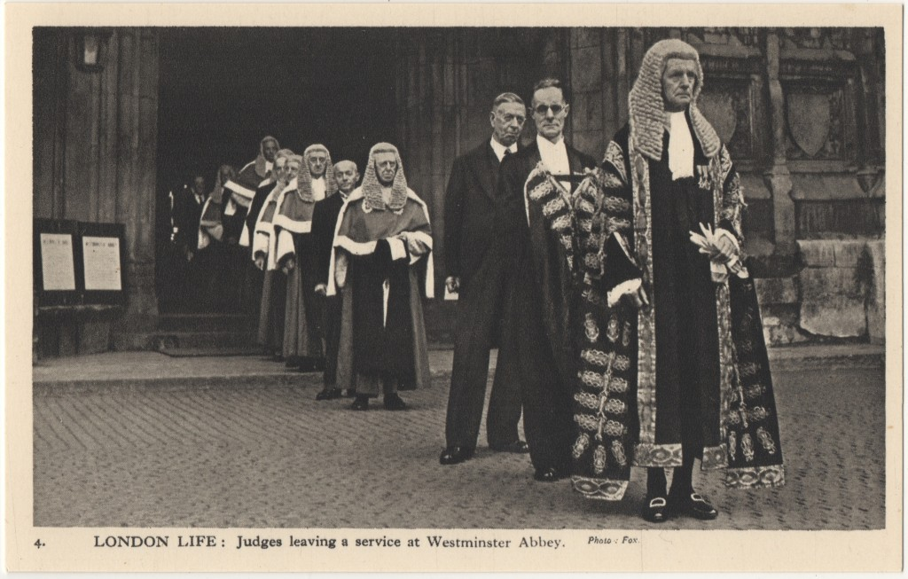 4. London Life: Judges leaving a service at Westminster Abbey.