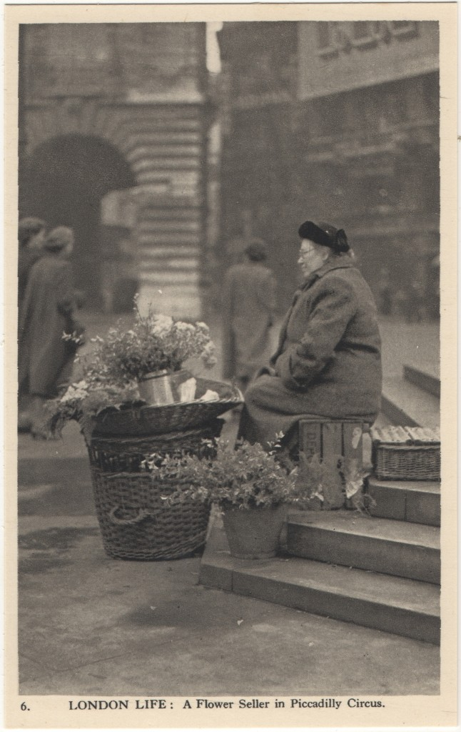 6. London Life: A Flower Seller in Piccadilly Circus