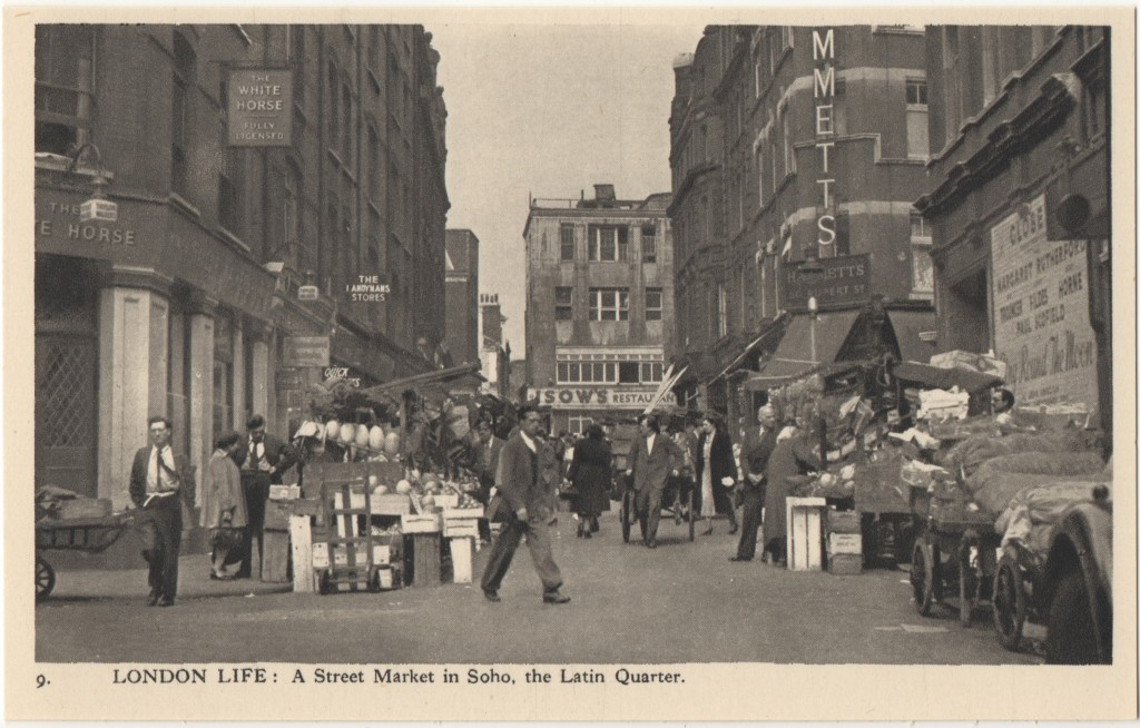 9. London Life: A Street Market in Soho, the Latin Quarter