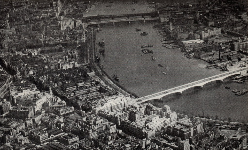 Air Photo Atlas of London Strand, the Thames and Waterloo Bridge