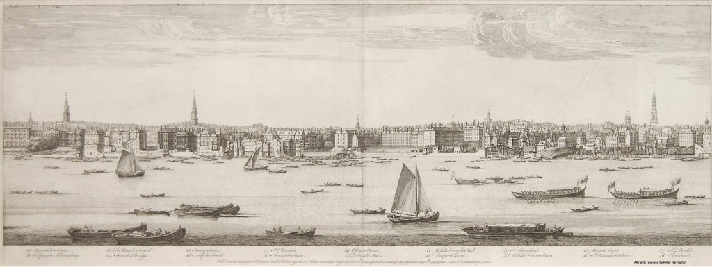 Buck's Panorama of London, Plate 3, Somerset House to Bridewell.