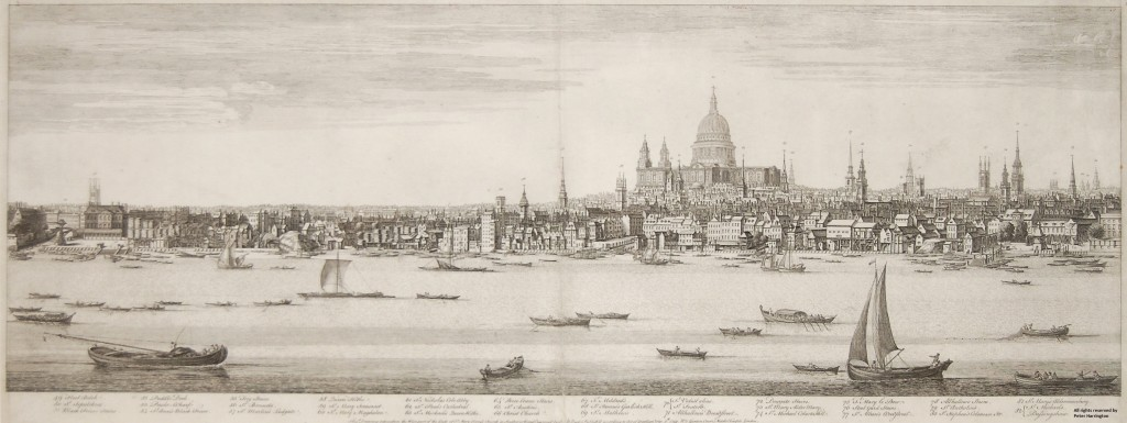 Buck's Panorama of London, Plate 4, Fleet Ditch to St. Michael's Church – Bassingshaw.