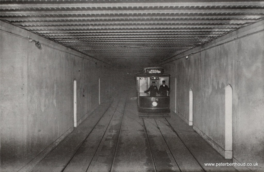 Edwardian London Electric Tram in Kingsway Tunnel