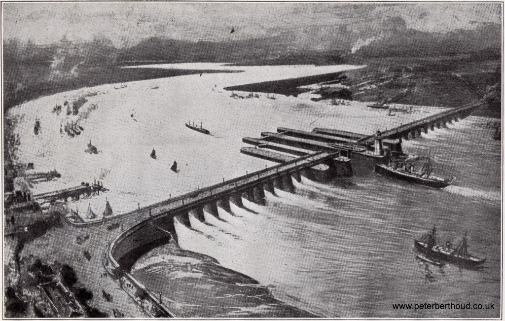 The Barrage at Gravesend – 1928
