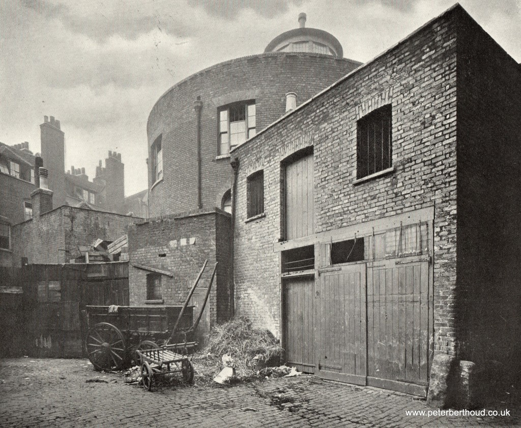 Hall's Yard, Little Wild Street, showing rear of Mission Chapel