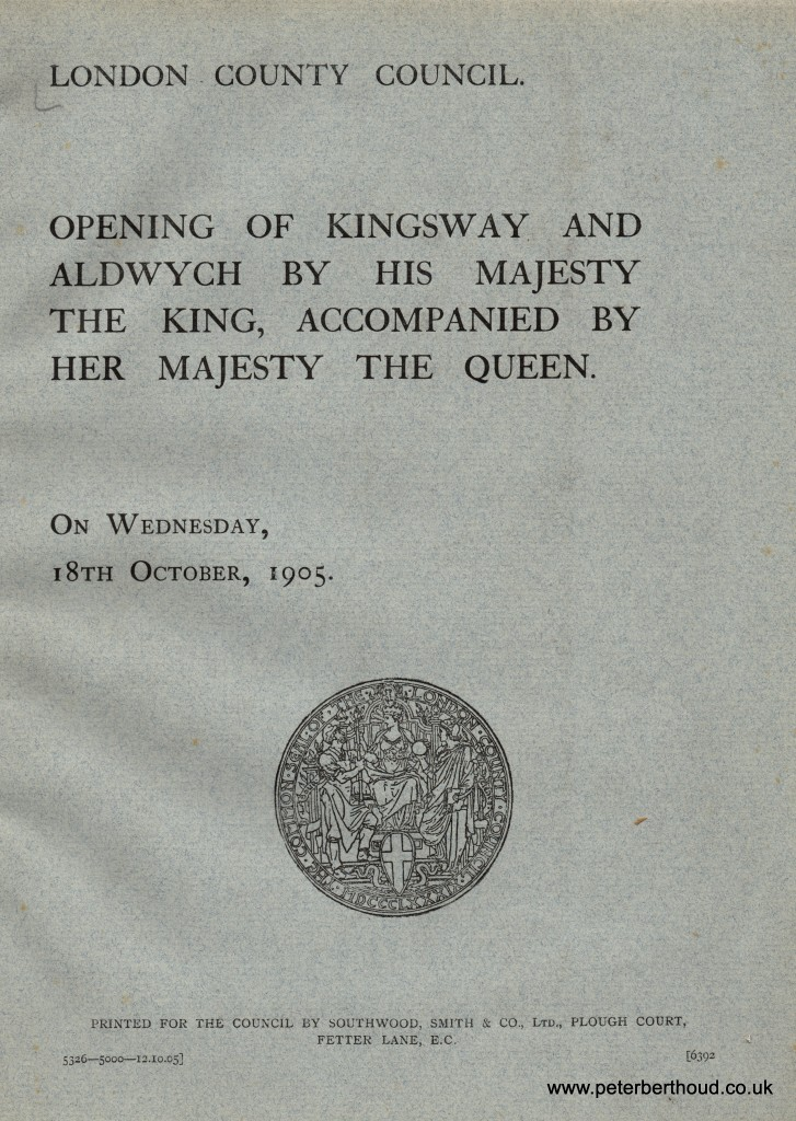 Kingsway and Aldwych Programme