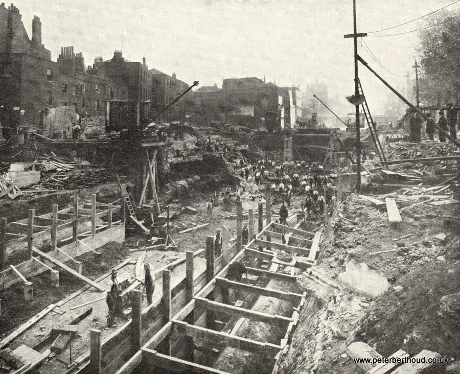 Kingsway - Same view as above on September 16th, 1905 (lower part of Subway commenced)