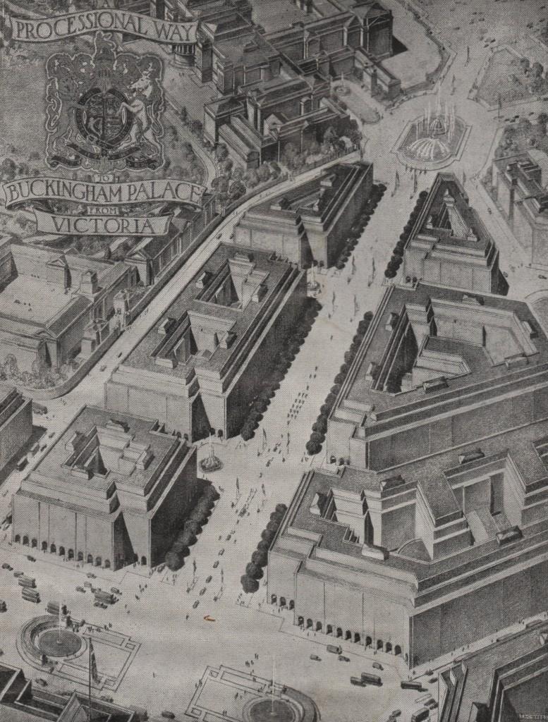 London Replanned Buckingham Palace Processional Way