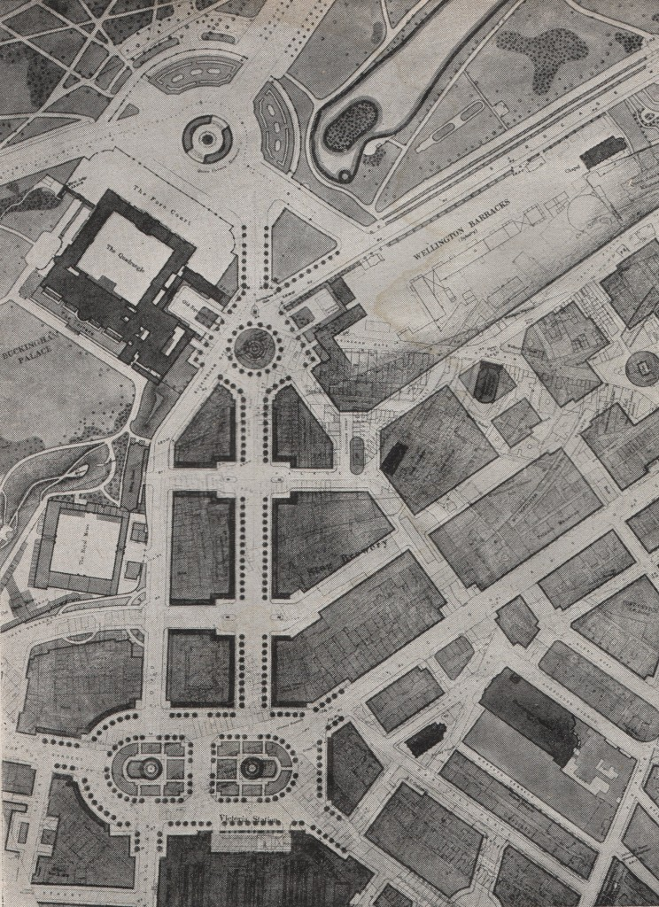 London Replanned Buckingham Palace Processional Way Plans