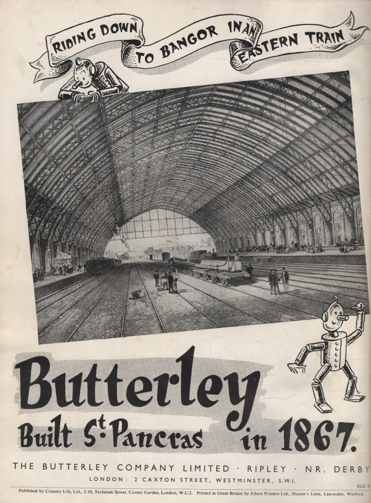 Butterly St Pancras poster
