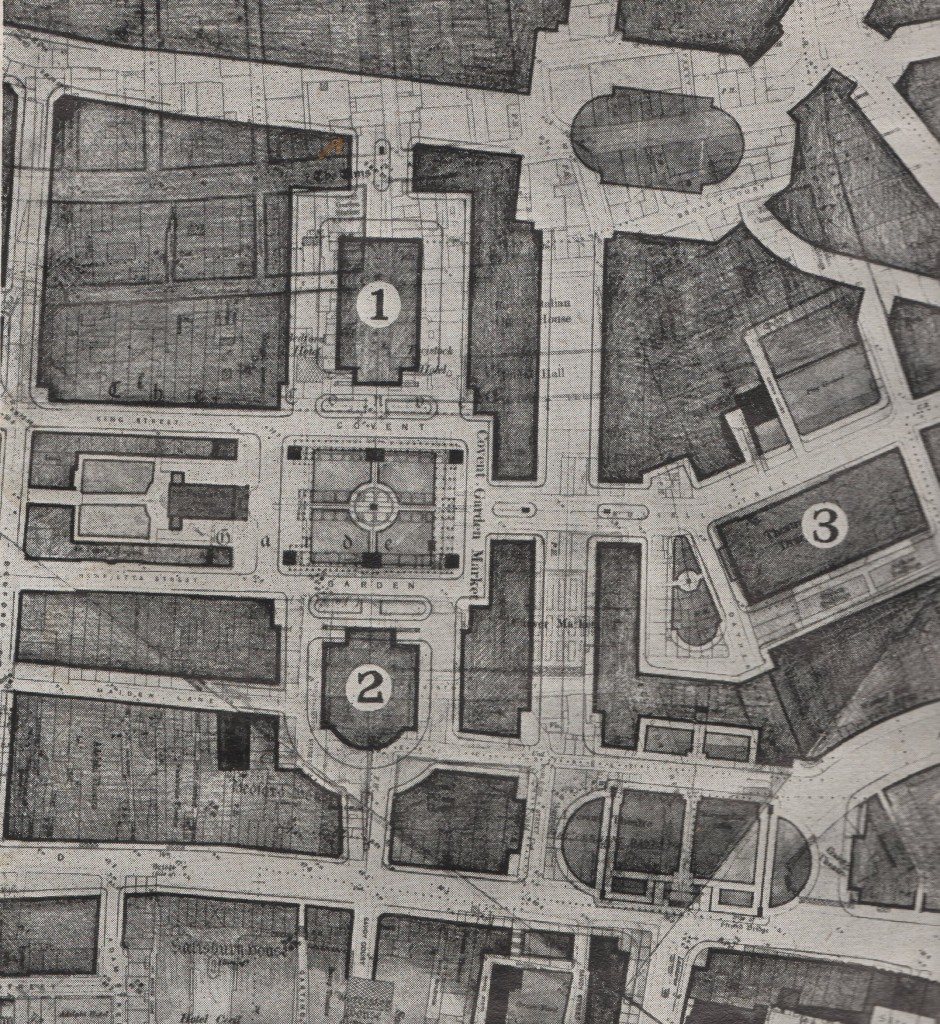 London Replanned Covent Garden map