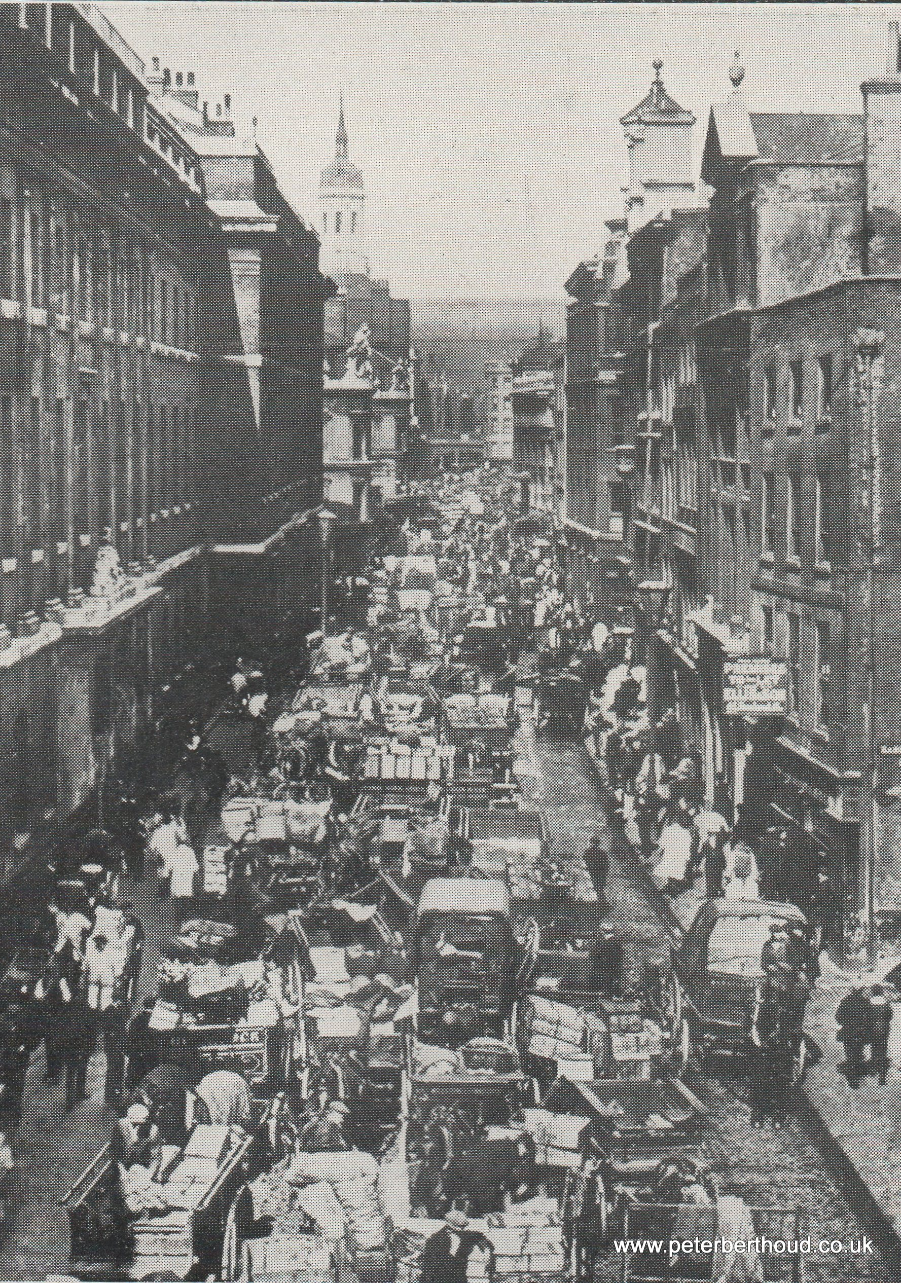 Billingsgate Fish Market: Delivery Vehicles in Lower Thames Street (1930)