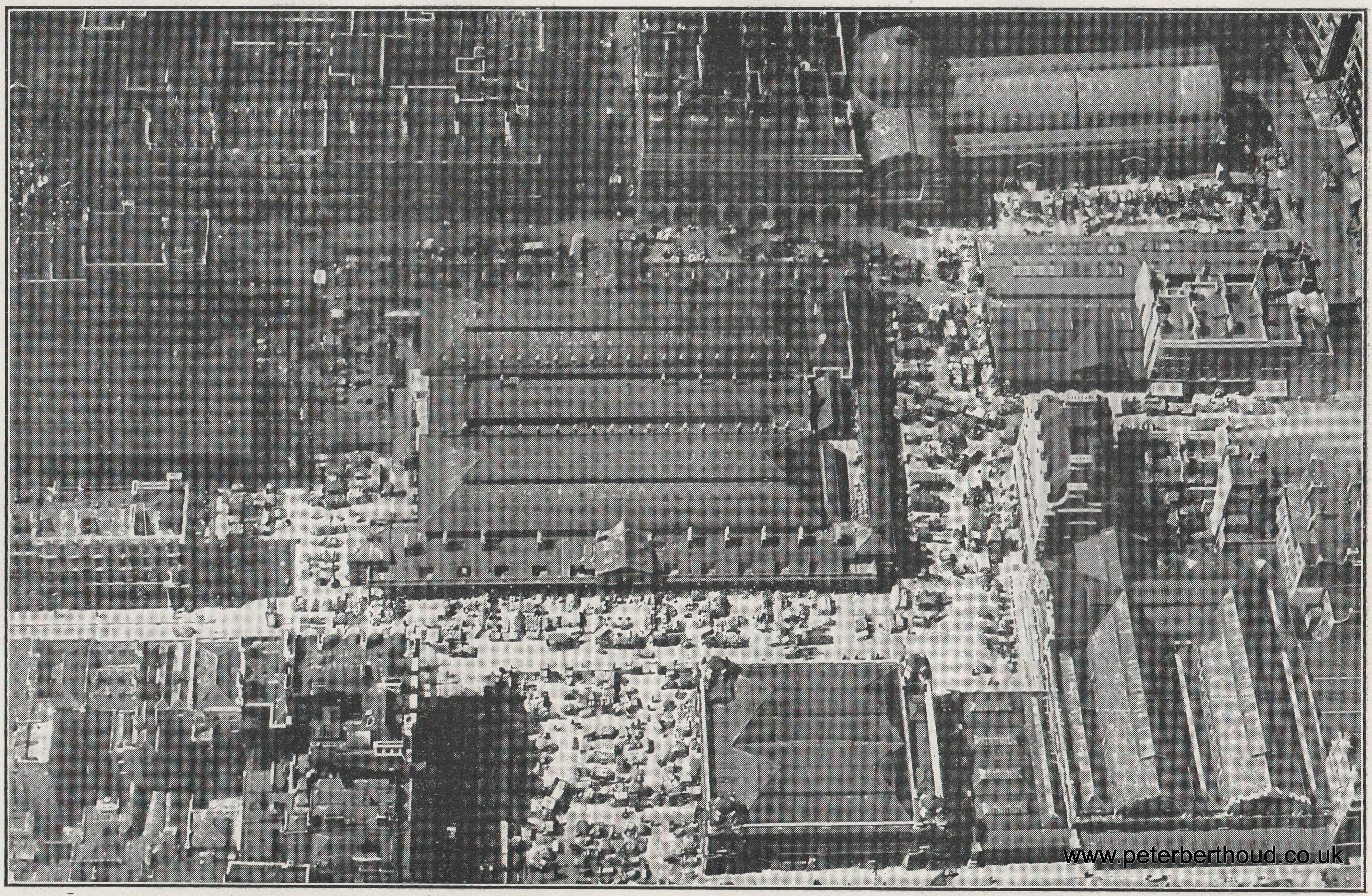 Aerial View of Covent Garden Market (1930)