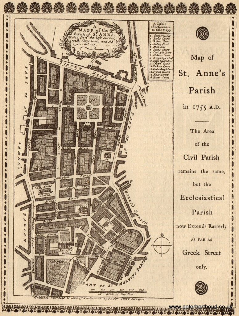A Map of St Anne's Parish in 1755