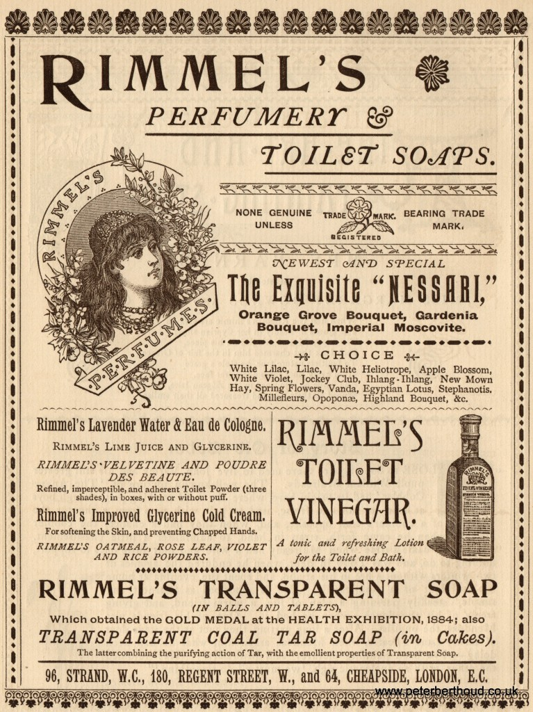 "Rimmel's ad, ""The London Look"" Victorian style"