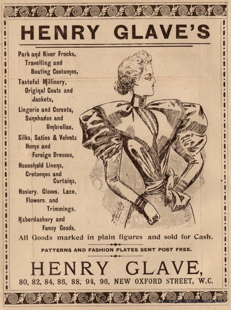 Henry Glave of New Oxford Street also took an advert.