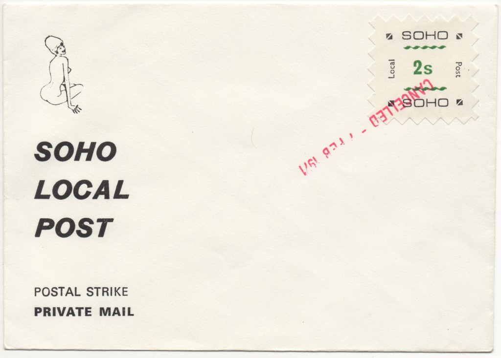 Soho Local Post, First Day Cover 7th February 1971