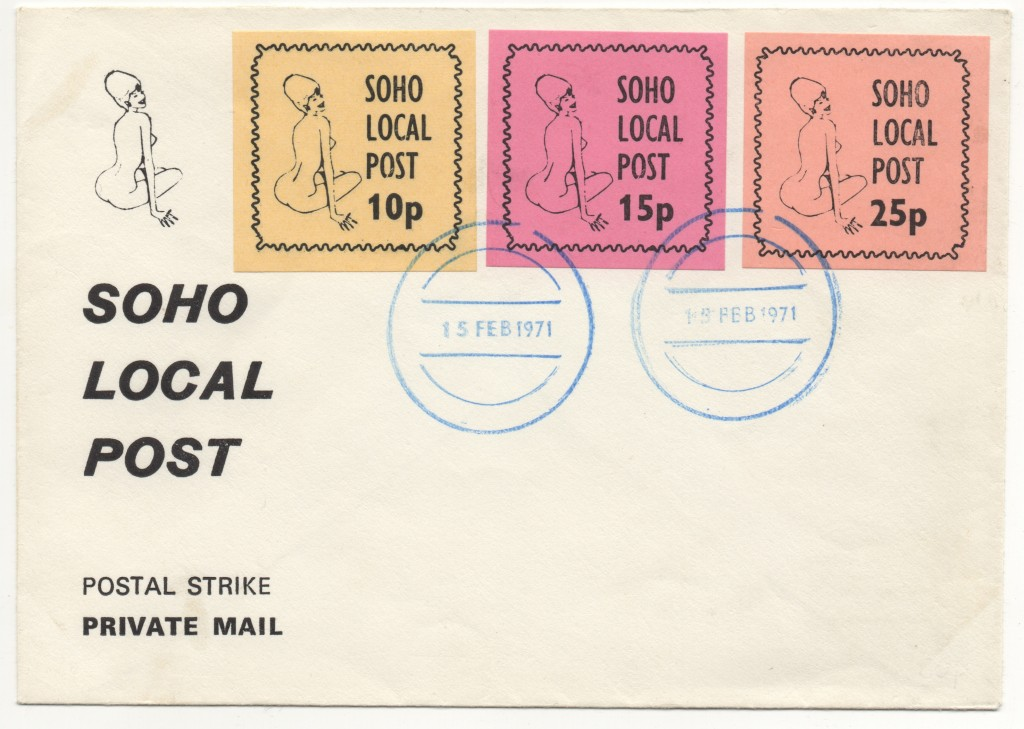 Soho Local Post, First Day Cover 15th February 1971
