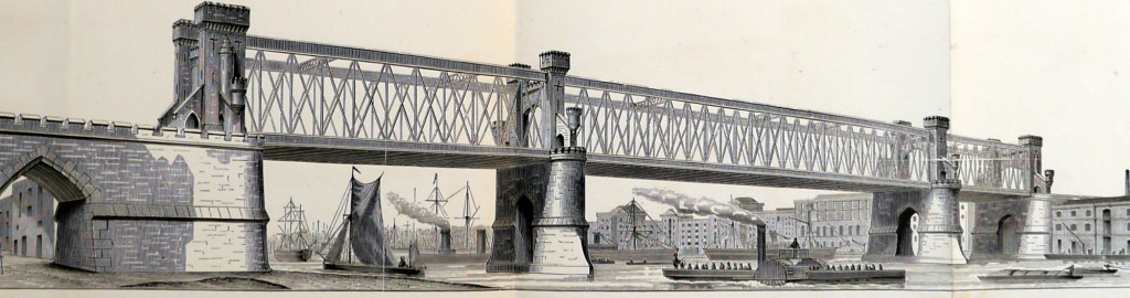 Tower Bridge as it Might Have Been – Design for a lattice girder bridge by Sir Joseph Bazalgette 1878