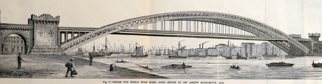 Tower Bridge as it Might Have Been – Design for a single span bridge by Sir Joseph Bazalgette 1878
