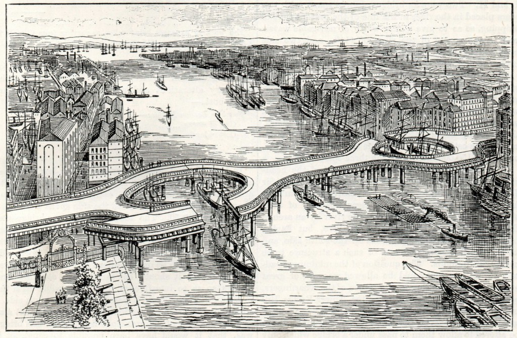 Tower Bridge as it Might Have Been – Design by F.J Palmer 1877