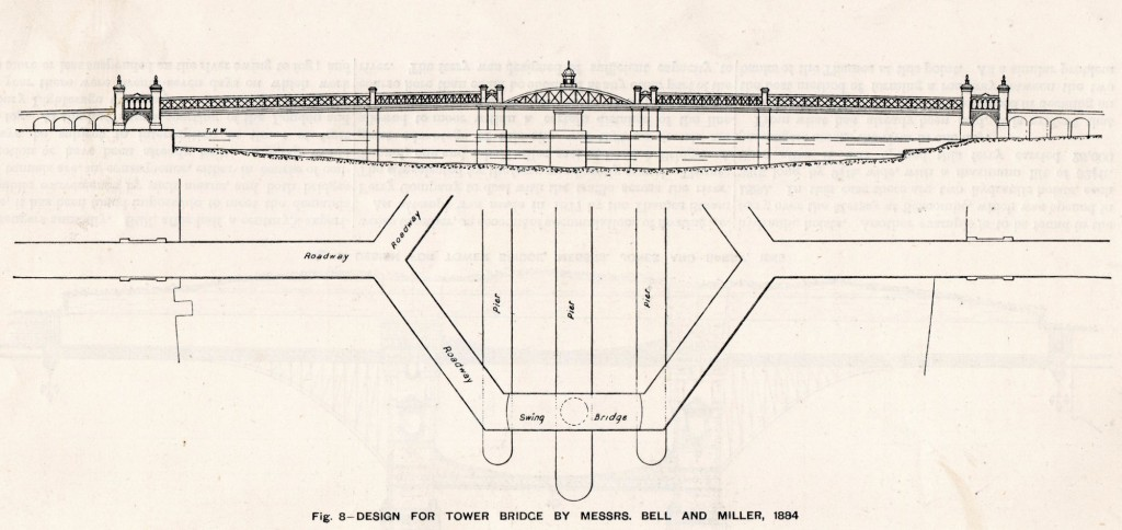 ower Bridge as it Might Have Been – Design by Bell & Miller 1884