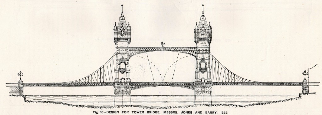 The final design by Horace Jones and James Wolfe Barry 1885