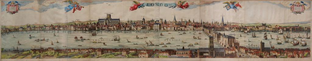 The Visscher Panorama of London, 1616.