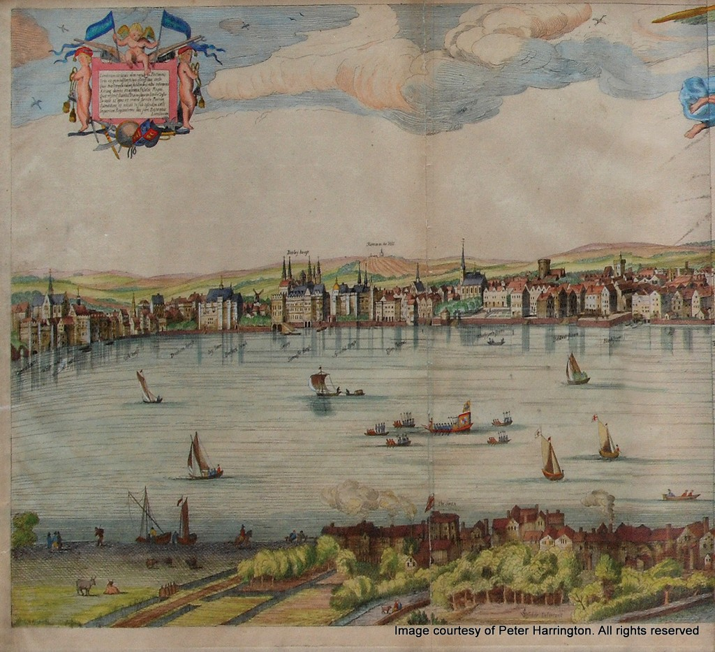 The Visscher Panorama of London, 1616. (Left)