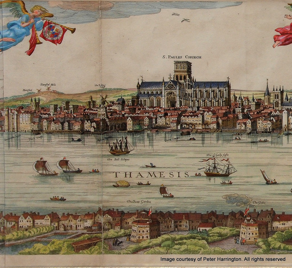 The Visscher Panorama of London, 1616. (Left Middle)