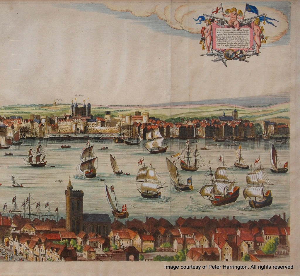The Visscher Panorama of London, 1616. (Right Middle)