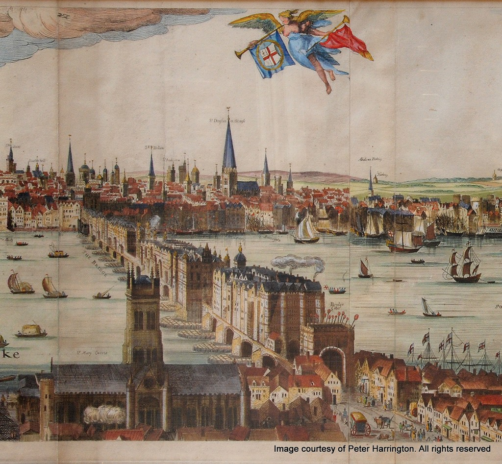 he Visscher Panorama of London, 1616. (Right)