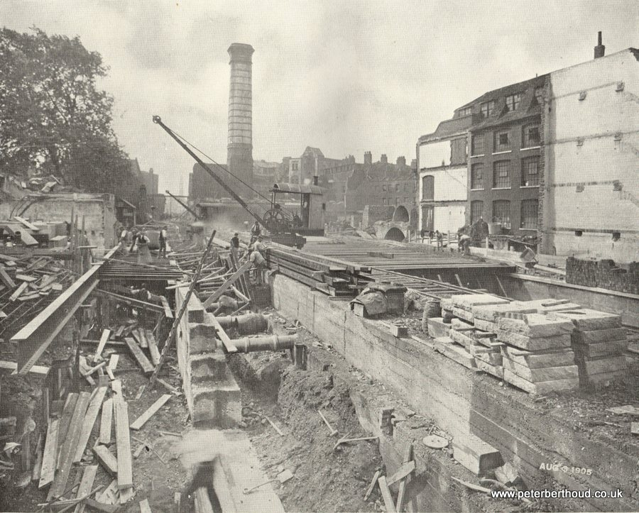 View of Kingsway during the progress of the Improvement (August 1905)