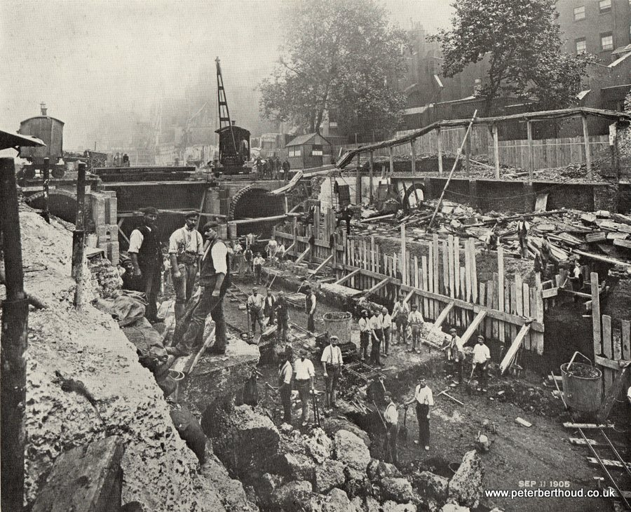 View in Kingsway during the progress of the Improvement (September 11th 1905)