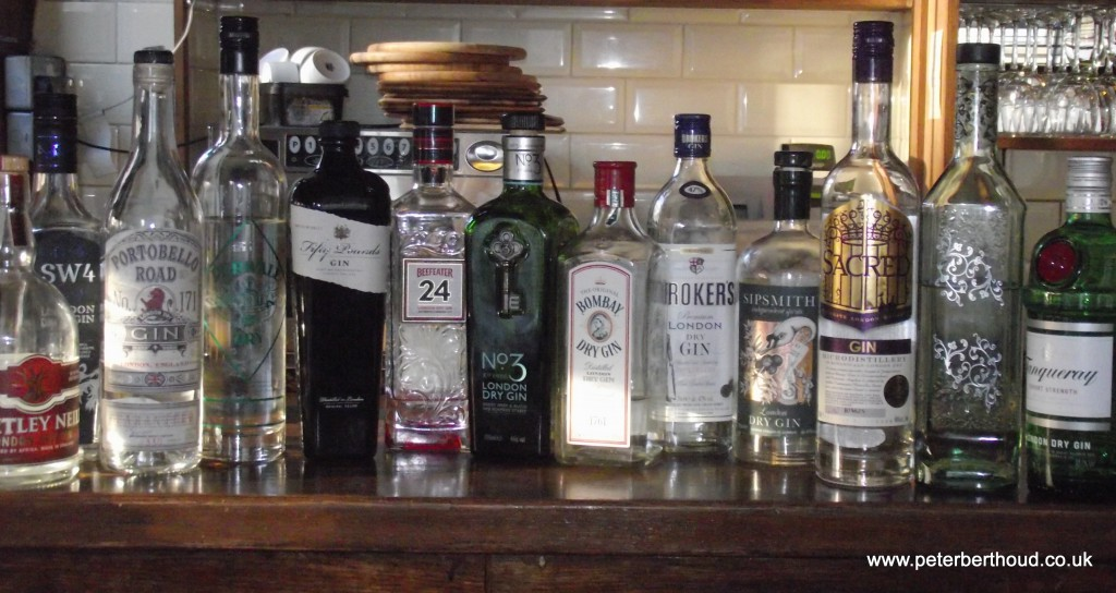 London gins at the London Gin Club