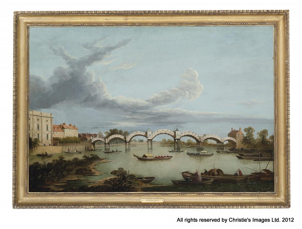 The Pagoda Bridge at Hampton Court by Joseph Paul (1804-1887)