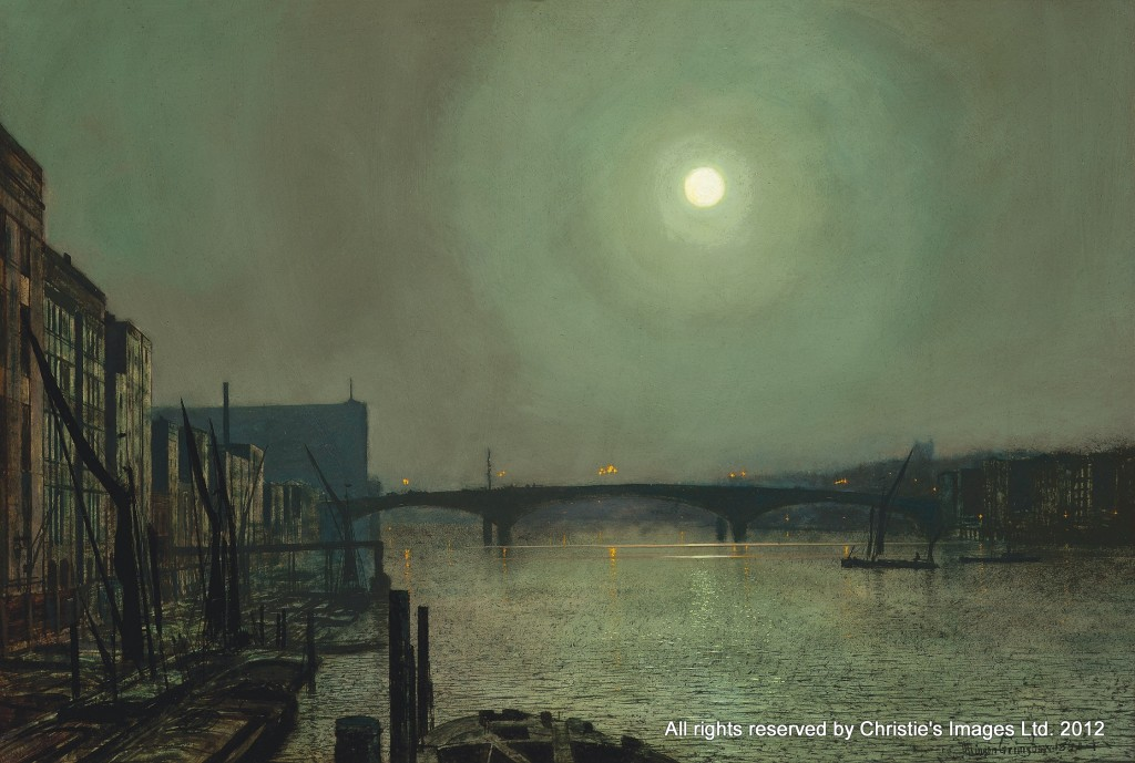 Southwark Bridge from Blackfriars by John Atkinson Grimshaw (1836-1893)